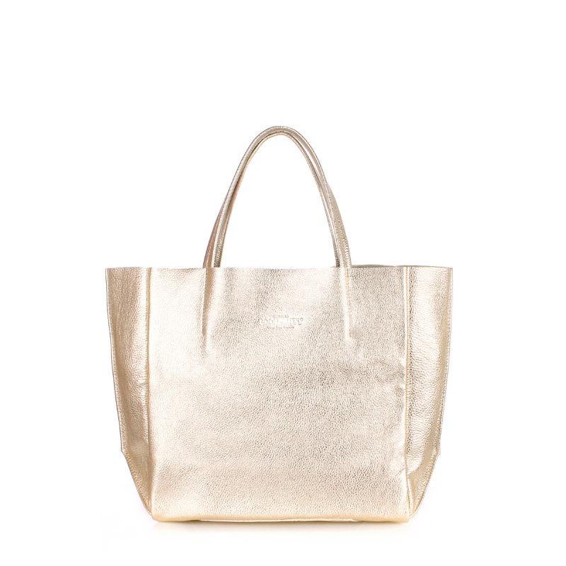972b3425451a Женская кожаная сумка POOLPARTY soho-gold золотая купить от ...