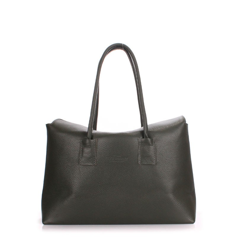 330216145e3e Женская кожаная сумка POOLPARTY sense-khaki темно-зеленая купить от ...