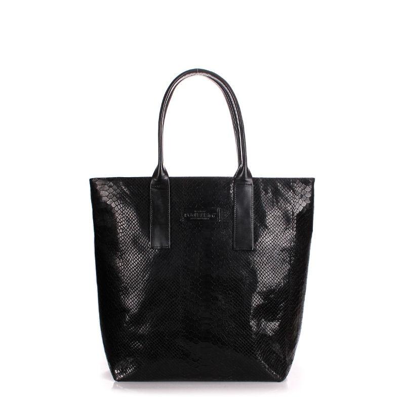Жіноча шкіряна сумка POOLPARTY adore-snake-black пітон чорна ... 995c5d02cd48c