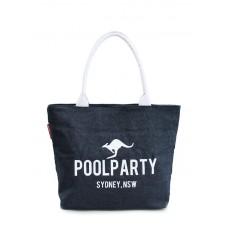 Джинсова сумка POOLPARTY 7 синя