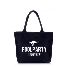 Коттоновая сумка POOLPARTY 9 чорна