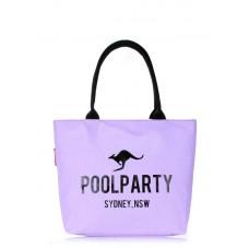 Коттоновая сумка POOLPARTY 9 фіолетова