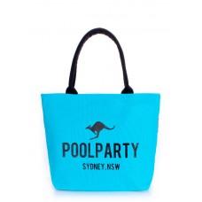 Коттоновая сумка POOLPARTY 9 блакитна
