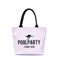 Коттоновая сумка POOLPARTY 9 рожева