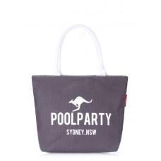 Коттоновая сумка POOLPARTY 9 сіра