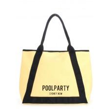 Коттоновая сумка POOLPARTY Laguna жовта