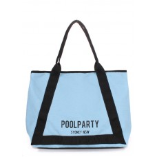 Коттоновая сумка POOLPARTY Laguna блакитна