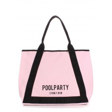 Коттоновая сумка POOLPARTY Laguna рожева