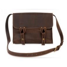 Кожаная сумка Satchel bag brown W020 коричневая