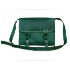 Кожаная сумка Satchel bag green W020.2 зеленая