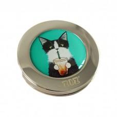 """Тримач для сумки """"Кіт зі склянкою"""""""