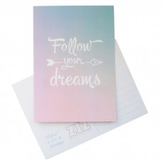 """Открытка """"Follow your dreams"""""""