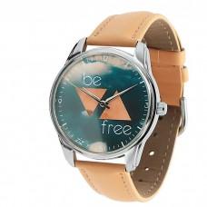 """Часы наручные """"Будь свободным"""" кремовый"""