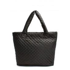 Стеганая сумка POOLPARTY pp1-eco черная