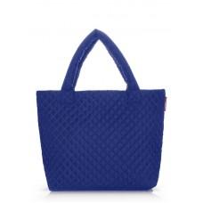 Стеганая сумка POOLPARTY pp1-eco синяя