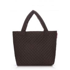 Стеганая сумка POOLPARTY pp1-eco коричневая