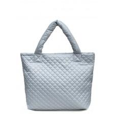 Стеганая сумка POOLPARTY pp1-eco серая