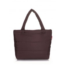 Дутая сумка POOLPARTY pp4 коричневая