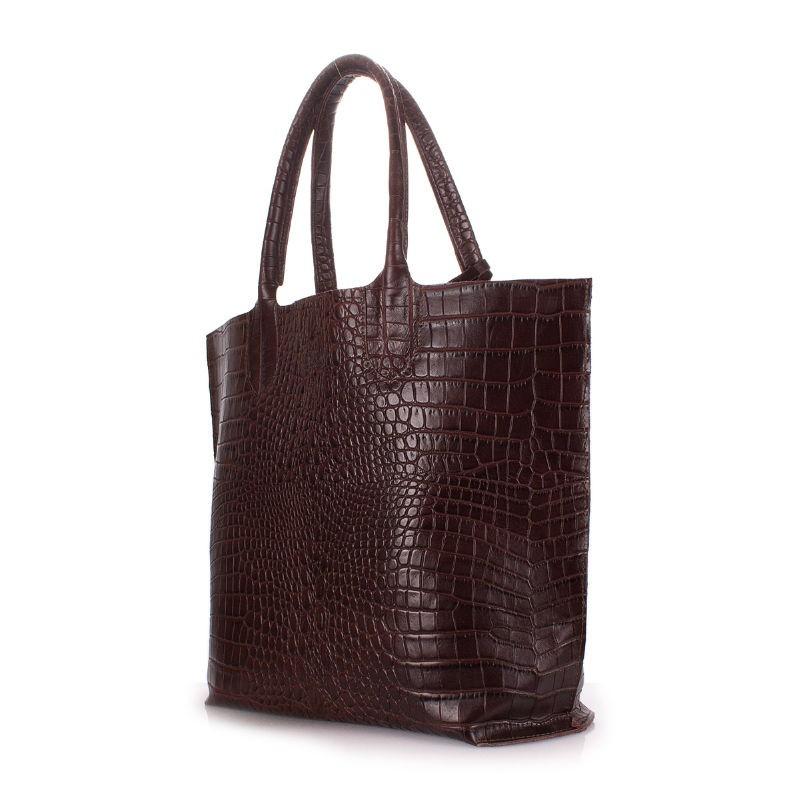 e60c8716ce8d Женская кожаная сумка POOLPARTY amphibia-brown коричневая — купить ...