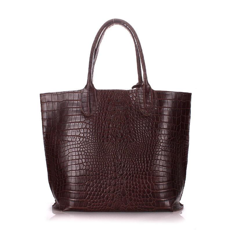 Женская кожаная сумка POOLPARTY amphibia-brown коричневая — купить ... 1929ce01957