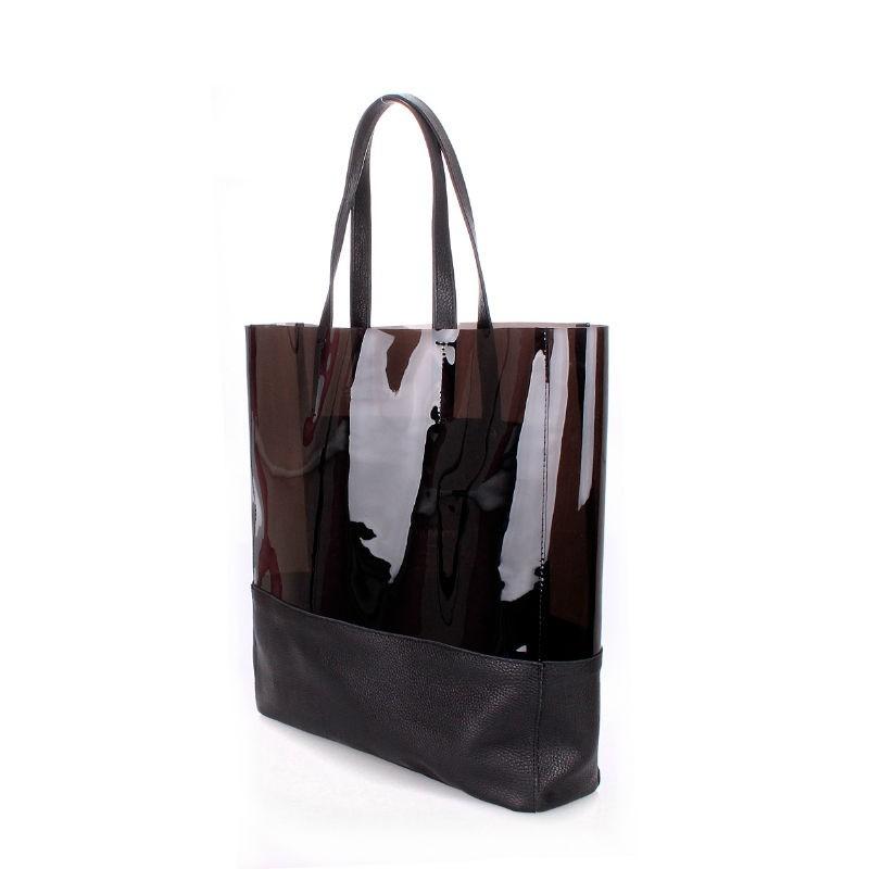 0315527987b0 Женская кожаная сумка POOLPARTY city-carrie-black черная купить от ...