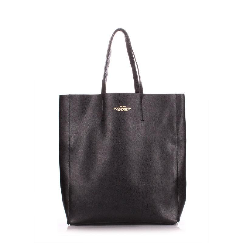 4b8de403f419 Женская кожаная сумка POOLPARTY City safyan черная — купить в ...