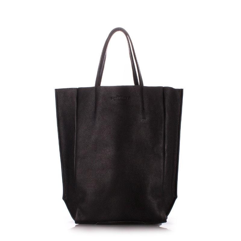 b7f3c7d373e9 Женская кожаная сумка POOLPARTY bigsoho-black черная купить от ...