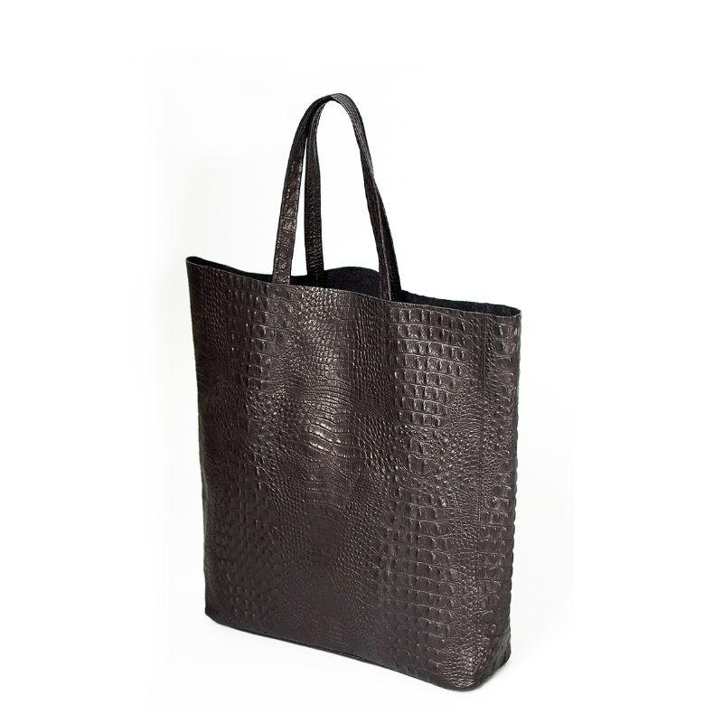 09ea85cce560 ... Женская кожаная сумка POOLPARTY leather-city-croco-black черная