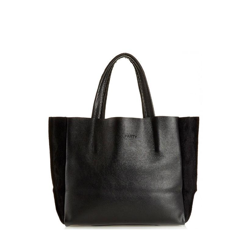 37c76799a113 Женская кожаная сумка POOLPARTY soho-black-velour черная купить от ...