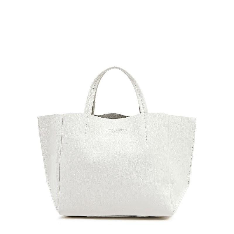 4e147a0eff7b Женская кожаная сумка POOLPARTY soho-white белая купить от ...
