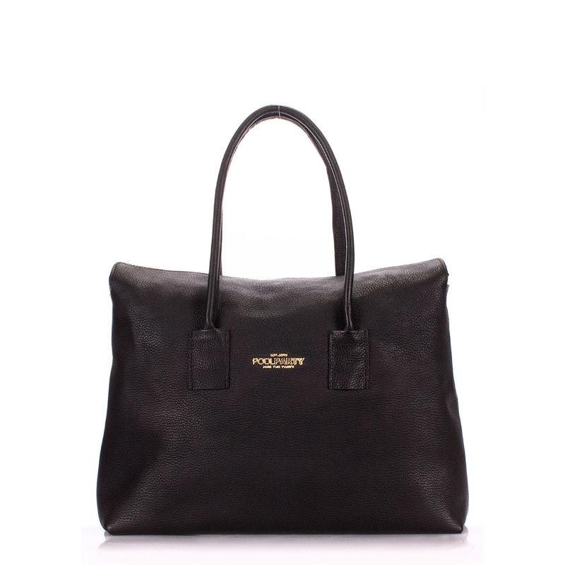 ee00601ccd6f Женская кожаная сумка POOLPARTY sense-black черная купить от ...