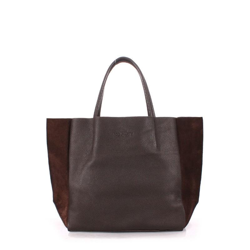 487da0b17b65 Женская кожаная сумка POOLPARTY soho-brown-velour коричневая купить ...